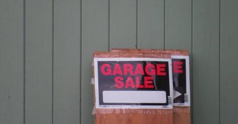 moving garage sale